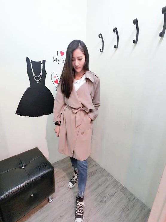 正韓隨性領風衣外套(現/預)4色 0