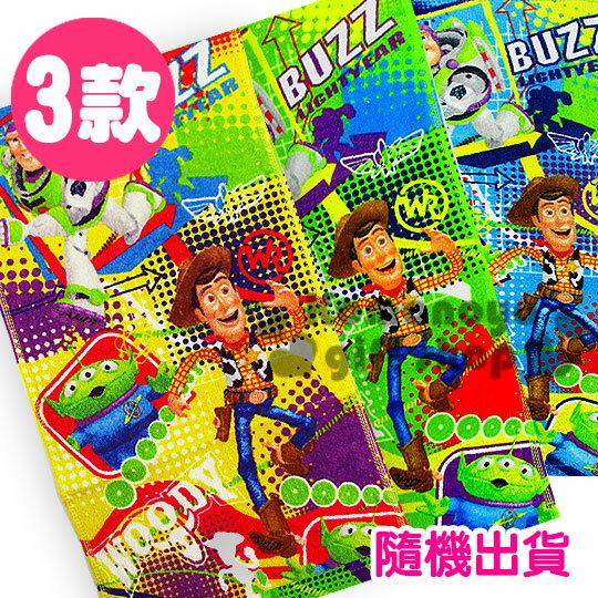 〔小禮堂〕Toy story 玩具總動員 兒童毛巾《黃綠藍.隨機出貨.夥伴大集合》27*54(cm)