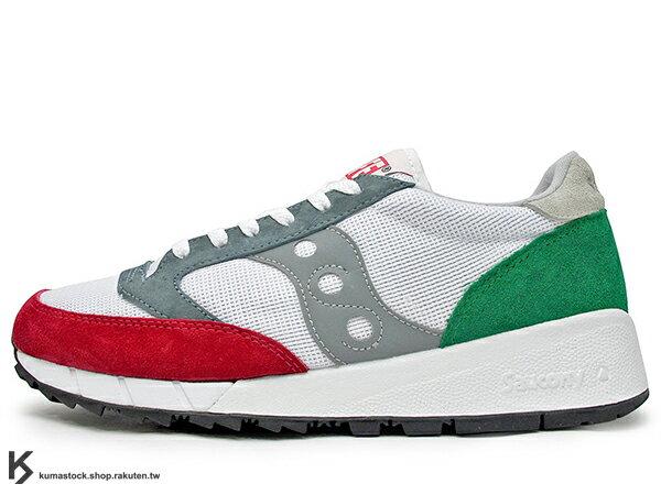 2016 紐約街頭品牌 ALIFE x 美國百年專業跑鞋 SAUCONY JAZZ '91 1991 聯名款 白紅綠 美式休閒風格 麂皮 網布 索康尼 復古慢跑鞋 (S70252-1) !