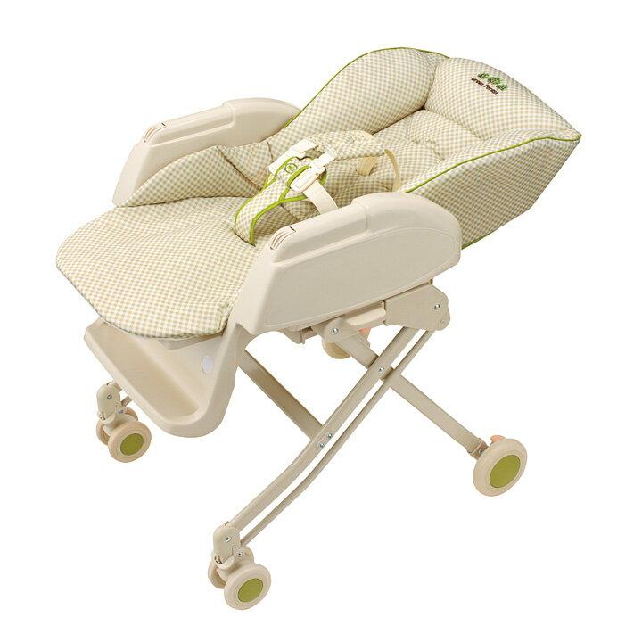 Aprica愛普力卡 - Nemyu STD 569 手動高低調節搖擺餐搖床椅 -綠森林 0