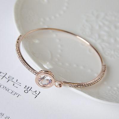 PS Mall 日韓版百搭閃亮水晶水鑽圓鋯石手鐲甜美手鍊手飾手環【G2133】