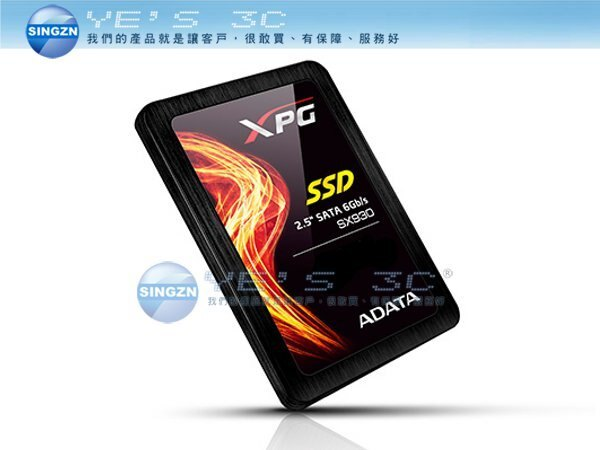 「YEs 3C」ADATA 威剛 XPG SX930 120G SSD 固態硬碟 JMicron晶片 與企業等級的MLC Plus NAND Flash 五年保固
