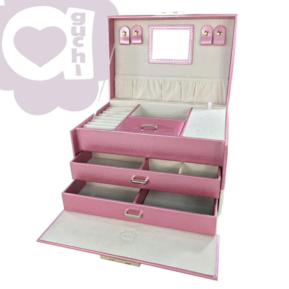 【亞古奇 Aguchi】繆斯女神-香檳粉 珠寶盒(浪漫女伶系列) - 手工精品時尚設計珠寶盒/戒盒/耳環盒 1