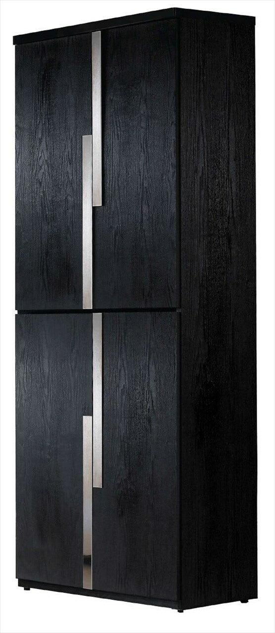 ~石川家居~JF~277~3 艾克2.7尺黑色四門鞋櫃 ^(不含 ^) 台中以北 車趟 ~
