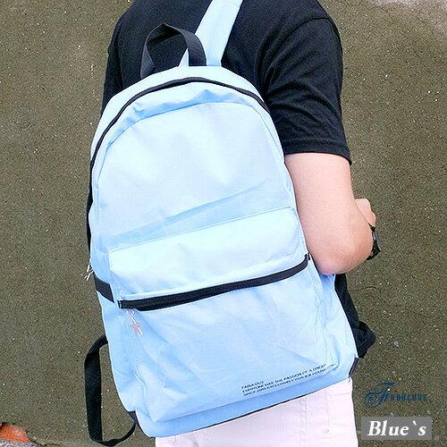 寶貝窩 Blue`s 【KKA1040】 簡約樂活素面百搭撞色滾邊糖果輕盈空氣感後背包