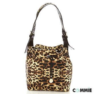 寶貝窩 【MA23092】日韓Mink時尚小野貓系精緻優質感豹紋經典水桶包