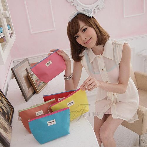 寶貝窩  Exquisite【TM0116】日韓Muni系列糖果雙亮色系可愛水晶球中化妝包