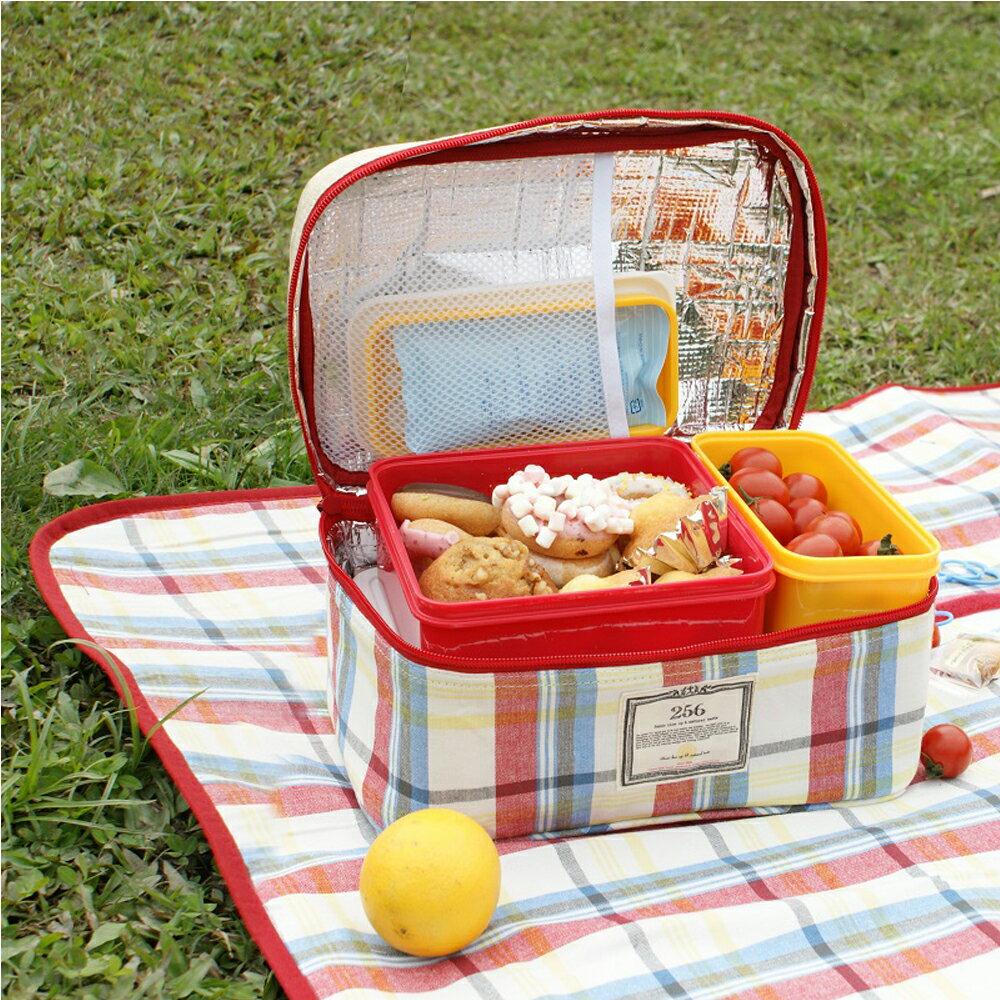 【DESTINO STYLE】256經典格紋四合一野餐保冷(溫)餐盒組 1