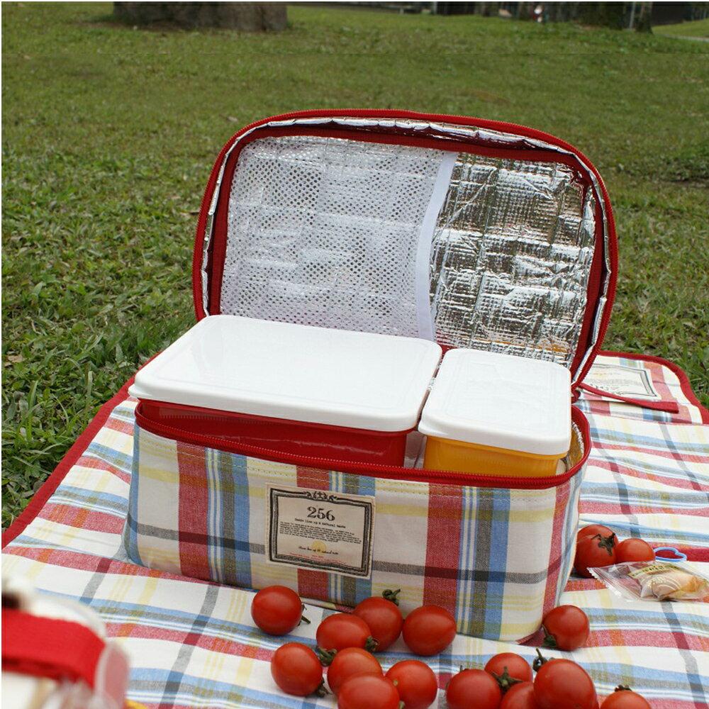 【DESTINO STYLE】256經典格紋四合一野餐保冷(溫)餐盒組 2