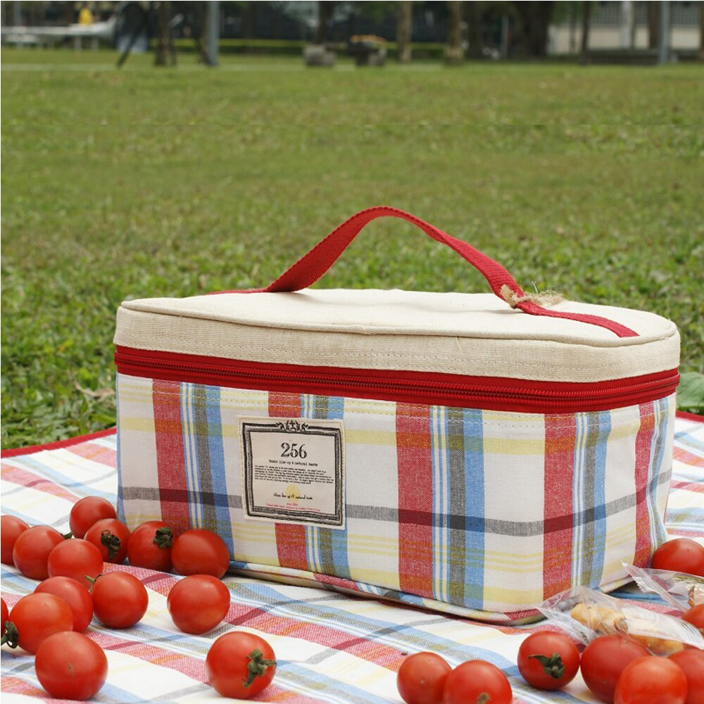 【DESTINO STYLE】256經典格紋四合一野餐保冷(溫)餐盒組 3