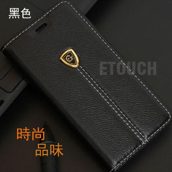 iPhone 6s/6 & iPhone 6s/6 Plus皮套保護套ETOUCH手工荔枝紋手機殼(4.7吋i6s/i6黑色)