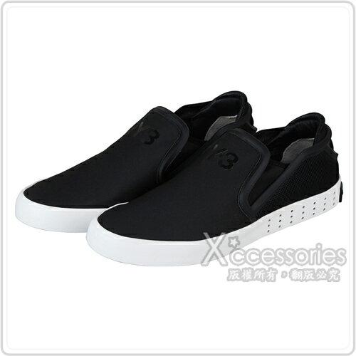 adidas Y-3 LAVER SLIP ON 時尚潮流設計休閒平底鞋(黑)
