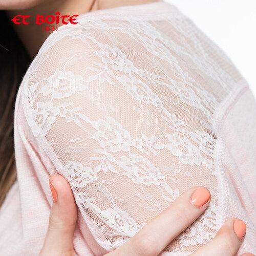 【ET BOîTE 箱子】LACE繡運動衫 1