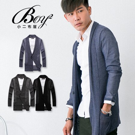 ☆BOY-2☆【NC0161】韓版紳士針織螺紋外套 0