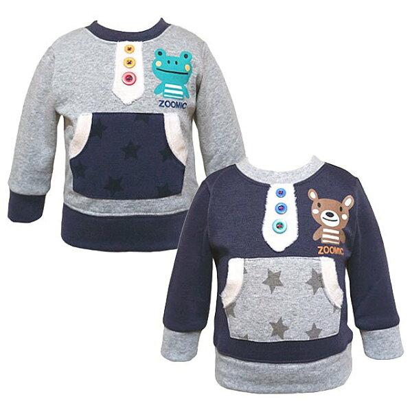 日本 ZOOMIC--羔羊絨內裡長袖T恤