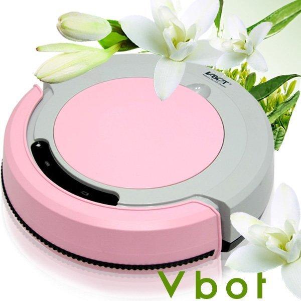 Vbot 智慧型茉莉綠茶香氛掃地機器人(掃+擦地+吸塵)公主機M270(粉紅)~免運費