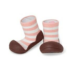 【本月特價$599】韓國【Attipas】快樂腳襪型學步鞋-花香粉紅 0