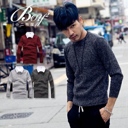 ☆BOY-2☆【PPK86033】韓系圓領粗針織素面毛衣 0