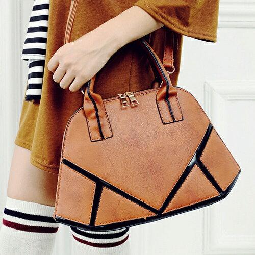 斜背包-韓版貝殼拼接沉穩氣質斜背包 手提包 包飾衣院 P1501 現貨