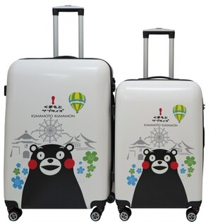 【SunEasy生活館】熊本熊 Kumamon 超輕硬殼PC/ABS行李箱登機箱 (20+24吋)(海關鎖)