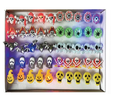 X射線【W400346】萬聖節戒指燈(4個100元),蜘蛛/派對/尾牙/表演/蝙蝠/發光燈/舞會/搞怪/南瓜/春酒/道具/開趴/驚聲尖叫