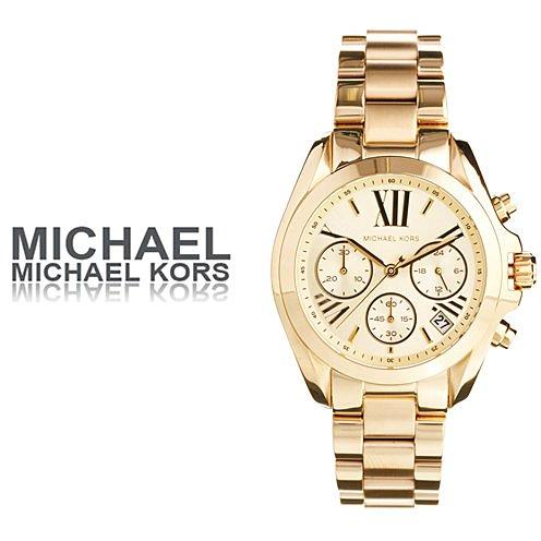 美國Outlet 正品代購 MichaelKors MK 金色熱吻巴黎三環計時手錶腕錶 MK5798 2