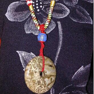 非洲果綠 中國結吉祥如意結飾 平安扣項鍊 4
