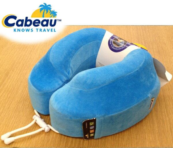 Cabeau 旅行用記憶頸枕/U型枕/旅行/長途/坐車旅遊枕/飛機靠枕/旅行枕/旅行頸枕 枕頭套可拆洗 海藍