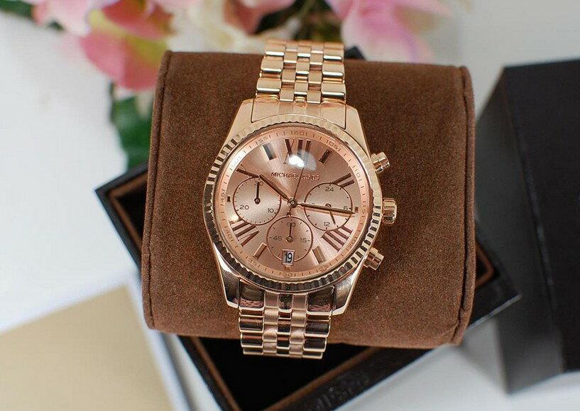 美國Outlet正品代購 MichaelKors MK  男女中性玫瑰金鋼帶錶 手錶 MK5569 5