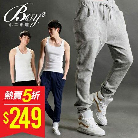 ☆BOY-2☆【NQYCK01】韓版飛鼠褲潮流休閒棉褲運動褲 0