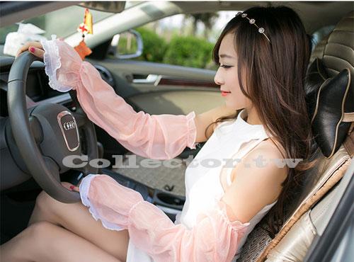~C14062601~ 長薄款女用防紫外線蕾絲手套 防滑防曬袖套 防曬手套 開車手套