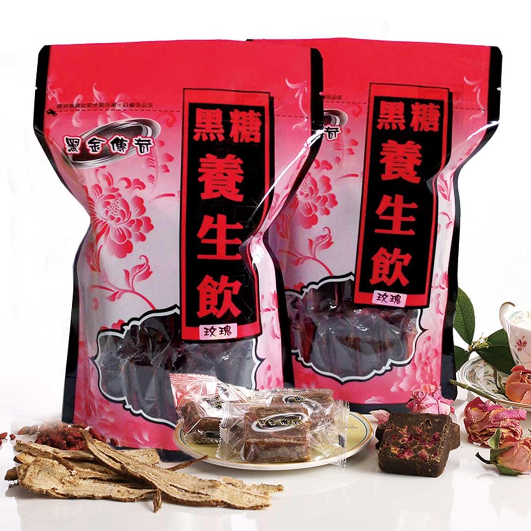 【黑金傳奇】黑糖玫瑰養生飲(大顆,455g) 0