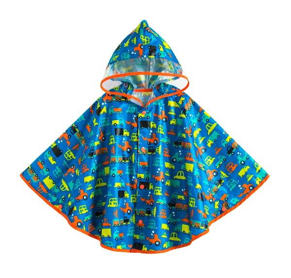 ☆傑媽童裝☆可愛圖樣透氣款披風式雨衣-車車【A0060-1】