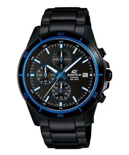 CASIO EDIFICE EFR-526BK-1A2黑騎士(藍)流行時尚腕錶/黑面44mm
