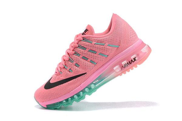 NIKE Air Max 2016 女生氣墊跑鞋 運動鞋 全掌氣墊女子鞋 粉紅