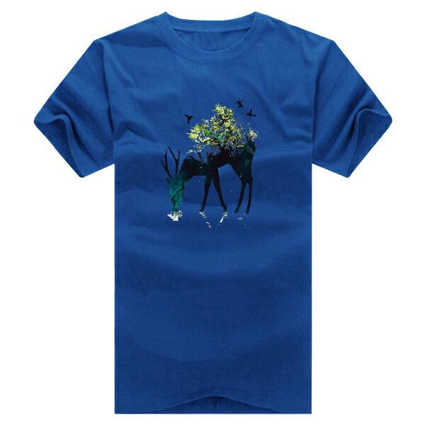 ◆快速出貨◆T恤.情侶裝.班服.MIT台灣製.獨家配對情侶裝.客製化.純棉短T.山獸神與樹【YC399】可單買.艾咪E舖 3