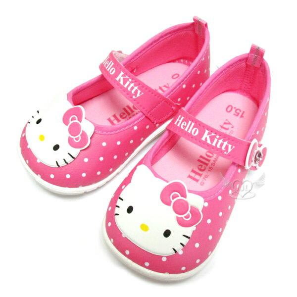 台灣製HELLO KITTY兒童鞋子娃娃鞋休閒鞋桃紅色12.5~15cm 6選1  95711540*JJL*