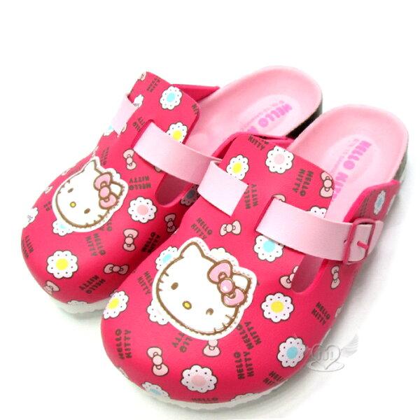 台灣製HELLO KITTY兒童拖鞋懶人鞋桃紅色15~20cm 6選1  95711640*JJL*