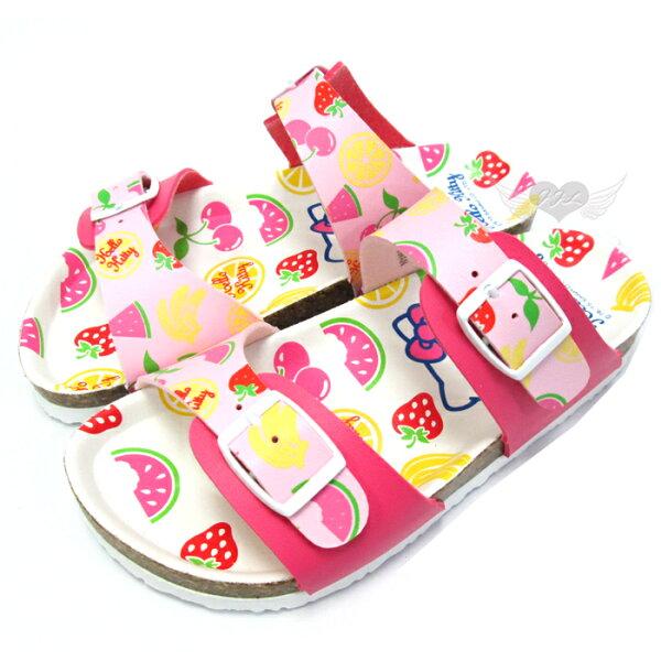 台灣製HELLO KITTY兒童拖鞋軟木鞋粉白13~19cm 7選1 95711790*JJL*