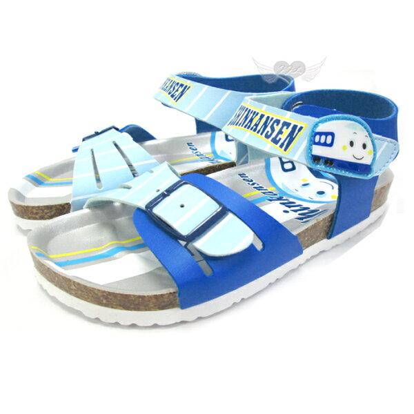台灣製新幹線兒童涼鞋軟木鞋淺藍13~19cm 7選1 95711840*JJL*