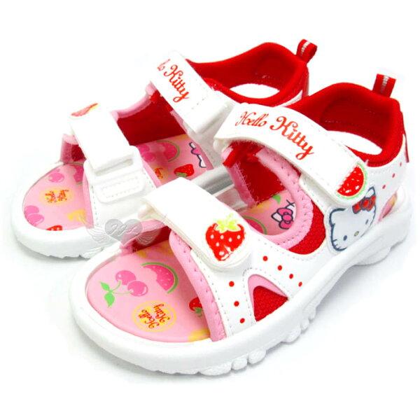 台灣製HELLO KITTY兒童涼鞋紅白14~18cm 5選1 95711920*JJL*