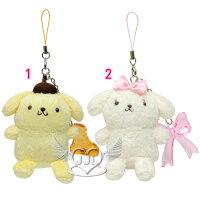 布丁狗周邊商品推薦到*JJL*布丁狗瑪卡蘿系列絨毛娃娃玩偶手機吊飾掛飾 2選1  10253373