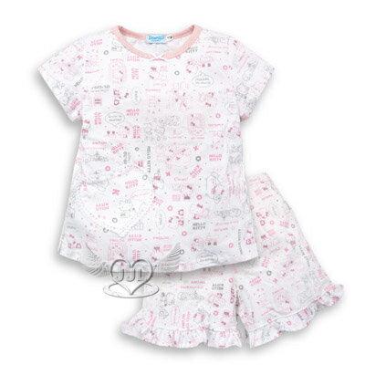 *JJL*台灣製HELLO KITTY純棉滿版成人短袖套裝睡衣160/170cm 2選1  9511-P160