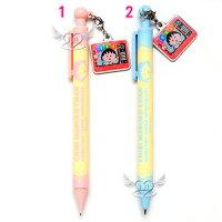 櫻桃小丸子週邊商品推薦*JJL*日本製櫻桃小丸子慶祝1000集垂鐵片自動筆自動鉛筆原子筆 2選1  40453700