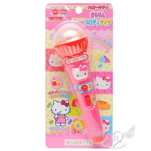HELLO KITTY麥克風造型玩具音樂燈光效果  008845*JJL*