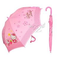 下雨天推薦雨靴/雨傘/雨衣推薦HELLO KITTY兒童雨傘長傘直立傘自動傘  652828*JJL*