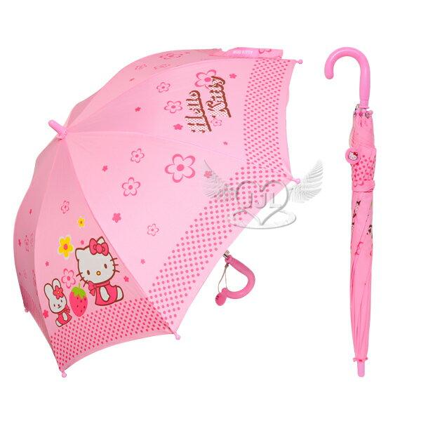 HELLO KITTY兒童雨傘長傘直立傘自動傘  652828*JJL*
