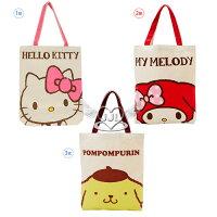 凱蒂貓週邊商品推薦到HELLO KITTY美樂蒂布丁狗帆布肩背包側背包包 3選1  72374815*JJL*