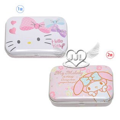 HELLO KITTY美樂蒂小鐵盒收納盒置物盒 2選1  10559871*JJL*
