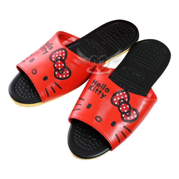 台灣製HELLO KITTY室內拖鞋大臉紅色 24~26cm 3選1  73521929*JJL*